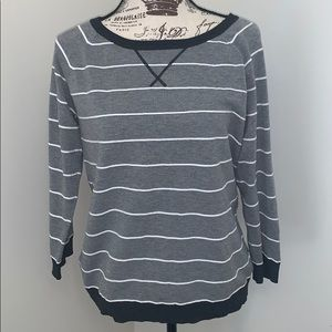 Cable and Guage knit sweater- large